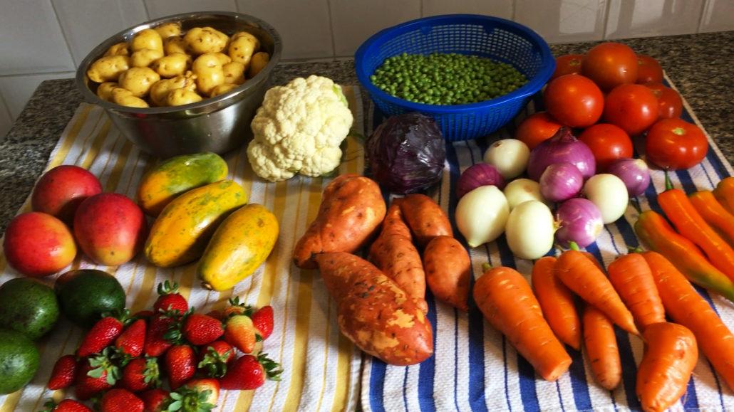 Fruit and Veggie Haul from Mercado 27 de Febrero in Cuenca Ecuador