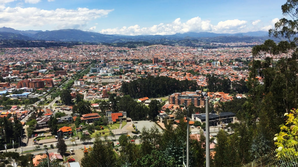 View from Turi Church Cuenca Ecuador