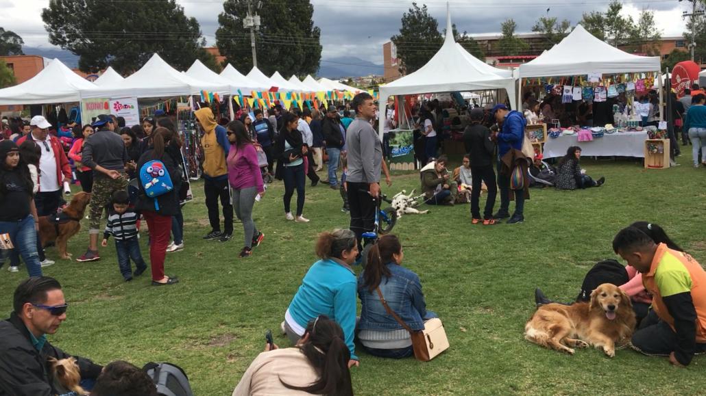 Feria Mascotas at Parque El Paraíso in Cuenca Ecuador