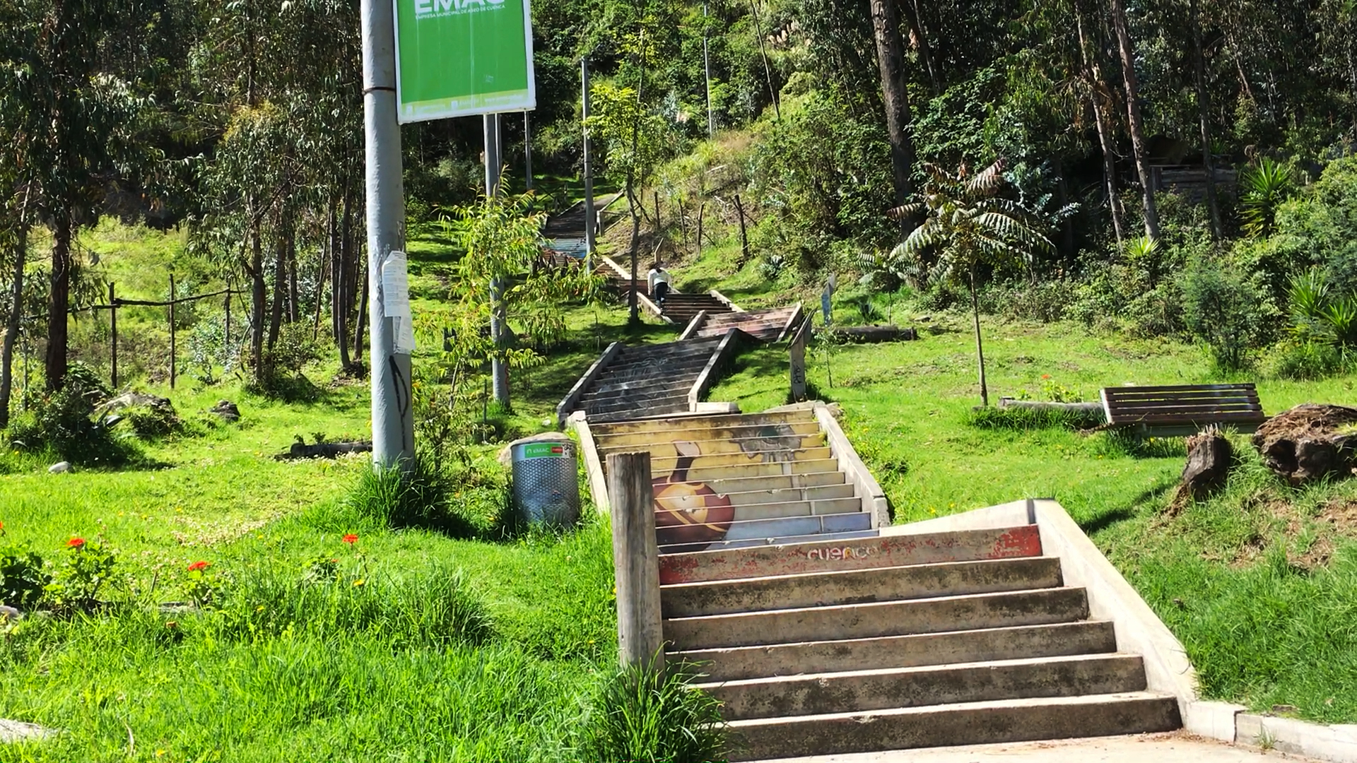 Stairs to Turi Ecuador
