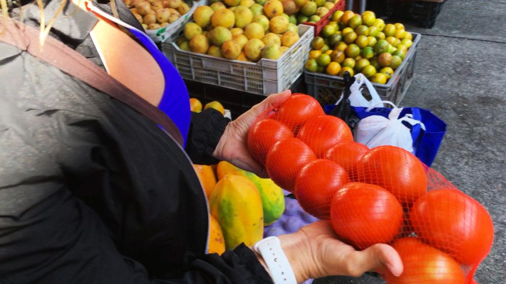 Tomatoes at Mercado 27 de Febrero in Cuenca Ecuador