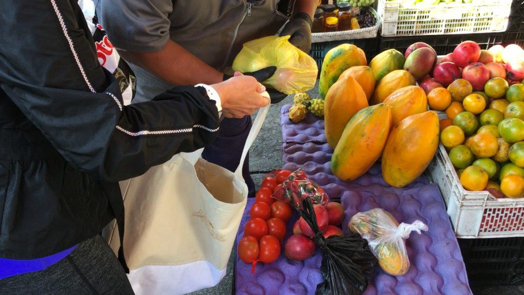 Adding the Price at Mercado 27 de Febrero in Cuenca Ecuador