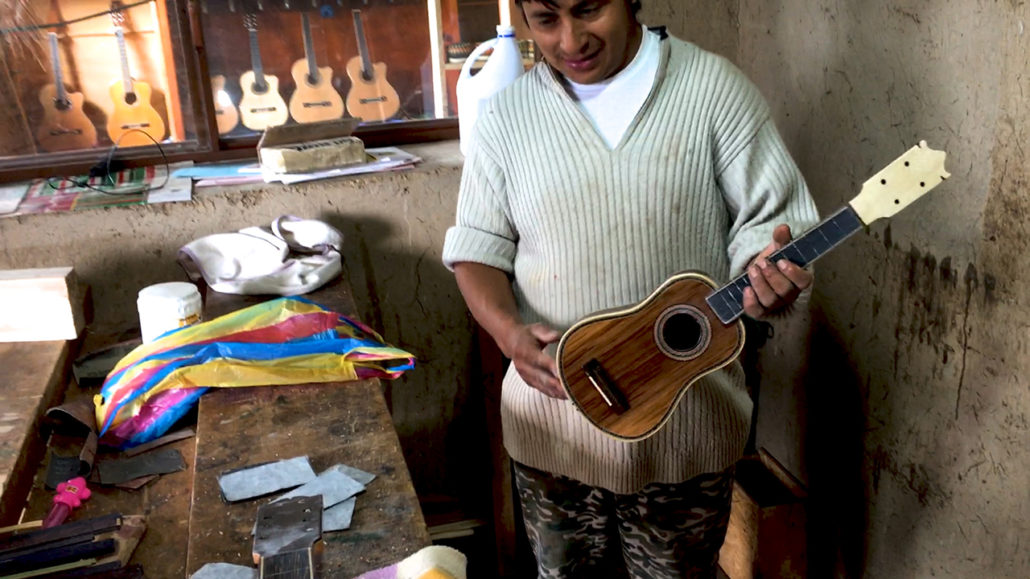 Ukulele Yapa from the Uyaguari Workshop in San Bartolomé Ecuador