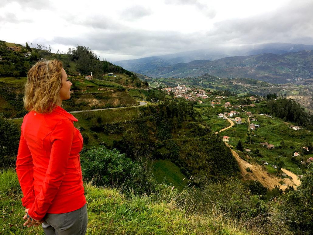 Amelia Enjoying the View of San Bartolomé Ecuador