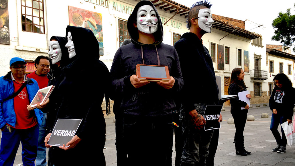 Anonymous for the Voiceless Cuenca Cube of Truth 1