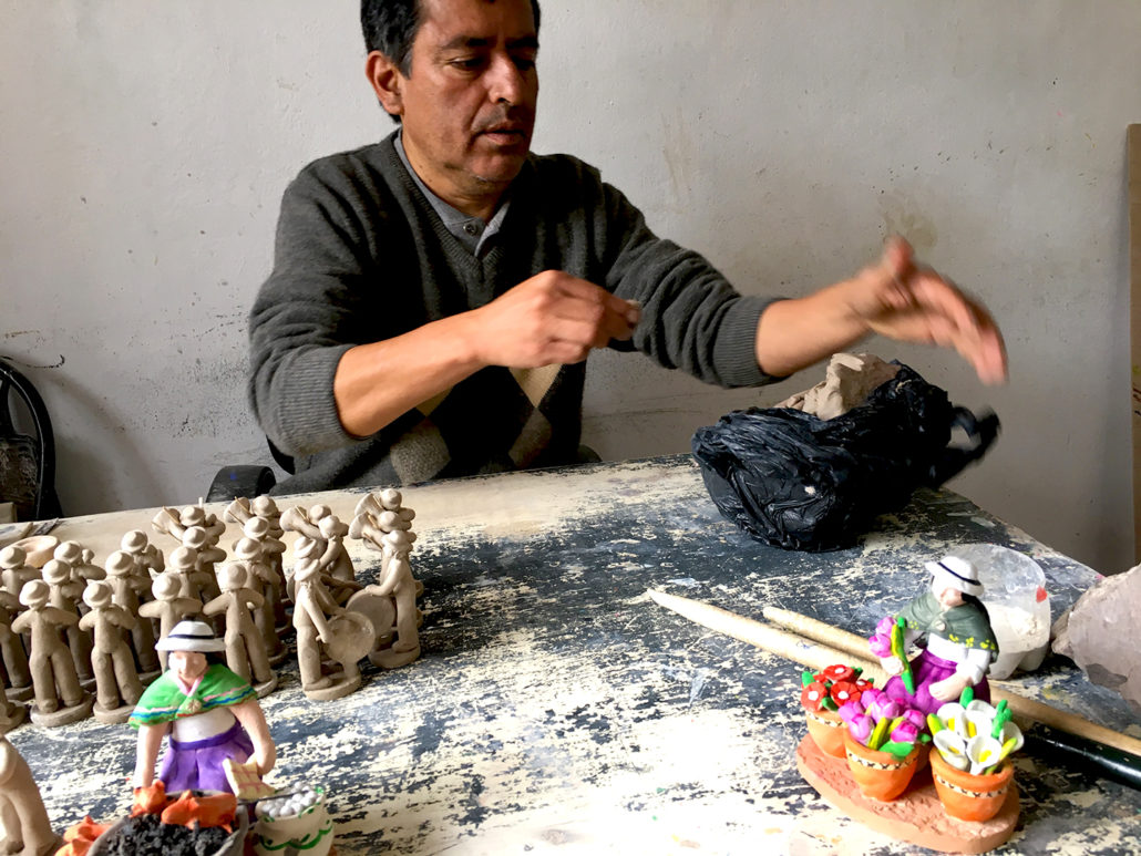 Miniature Ceramics Workshop in Chordeleg Ecuador