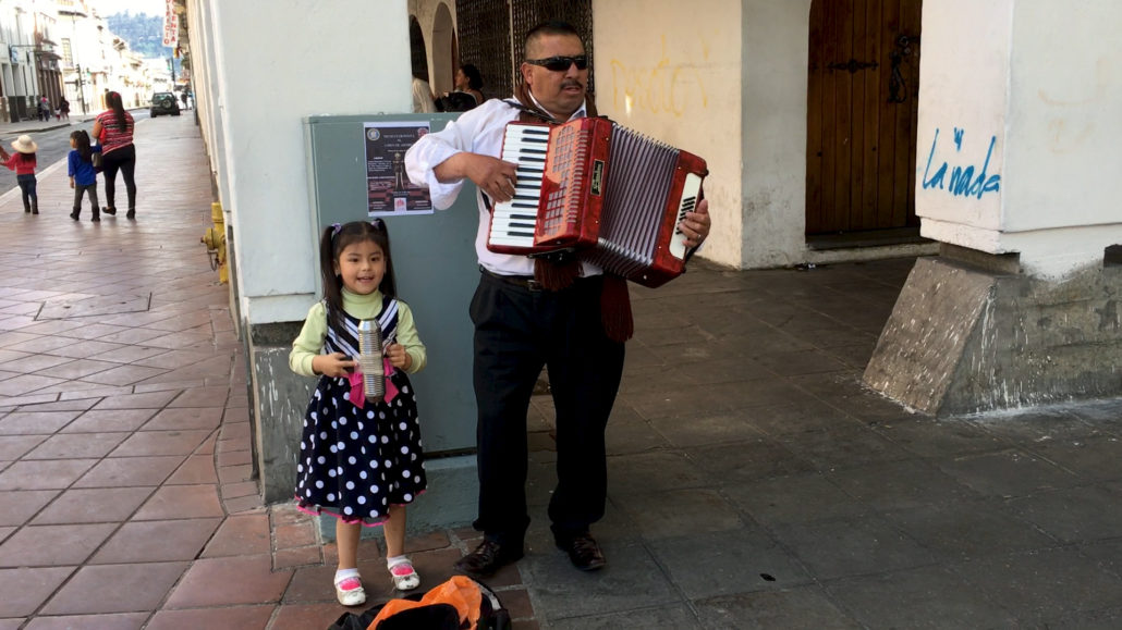 Daughter & Father Playing Music Cuenca Ecuador