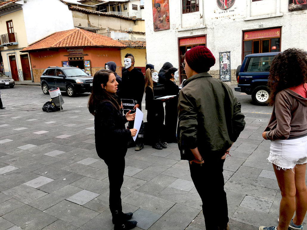 Rosy Outreach 1 Cube of Truth Cuenca Ecuador