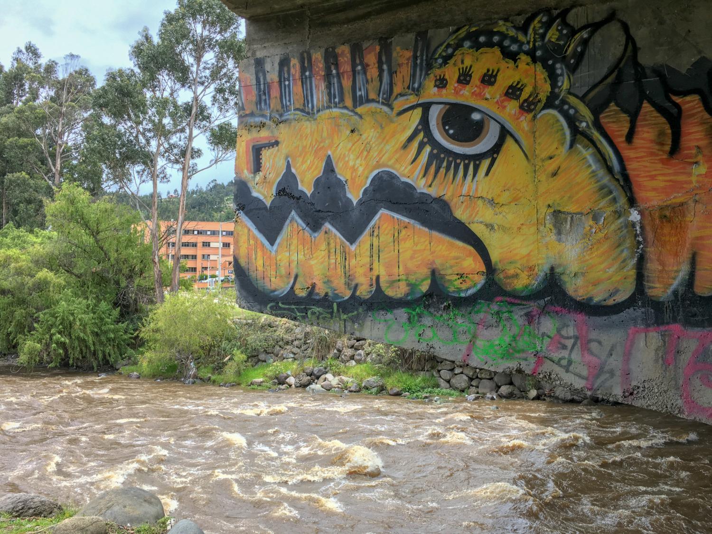 Cuenca Ecuador River Walk Graffiti