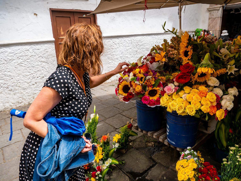 Cuenca Flower Market Ecuador