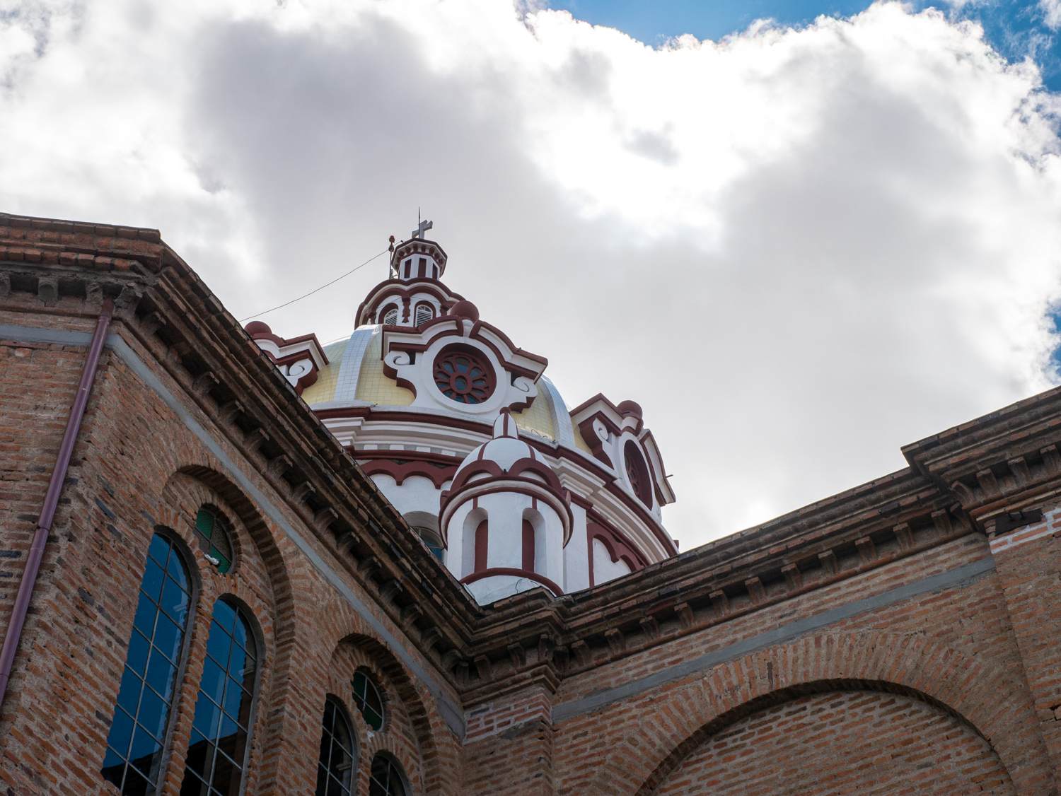 San Blas Church Clouds Cuenca Ecuador