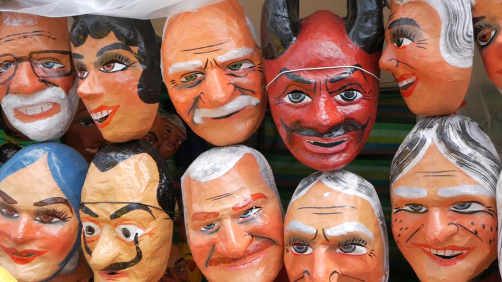Cuenca Ecuador Monigotes Masks