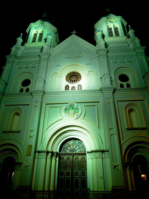 Nighttime Cuenca Ecuador Iglesia San Alfonzo