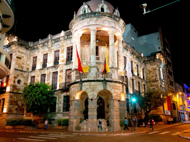 Nighttime Cuenca Ecuador Museo 1