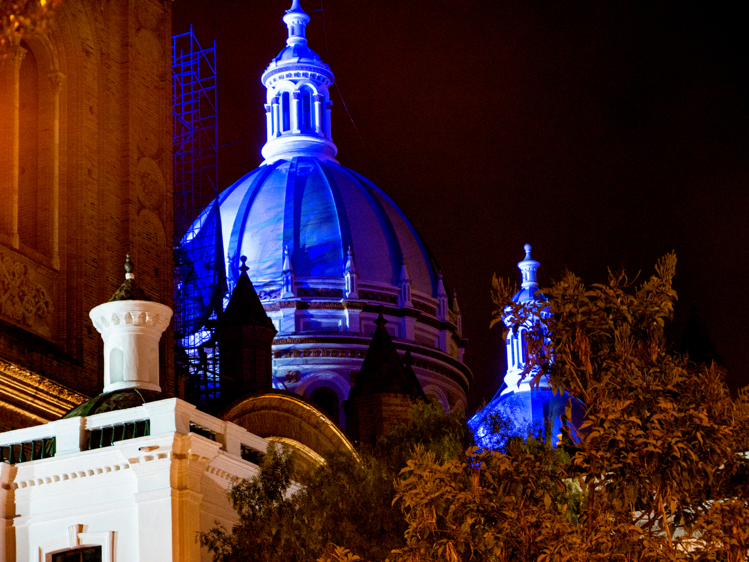 Nighttime Cuenca Ecuador New Cathedral Night 1