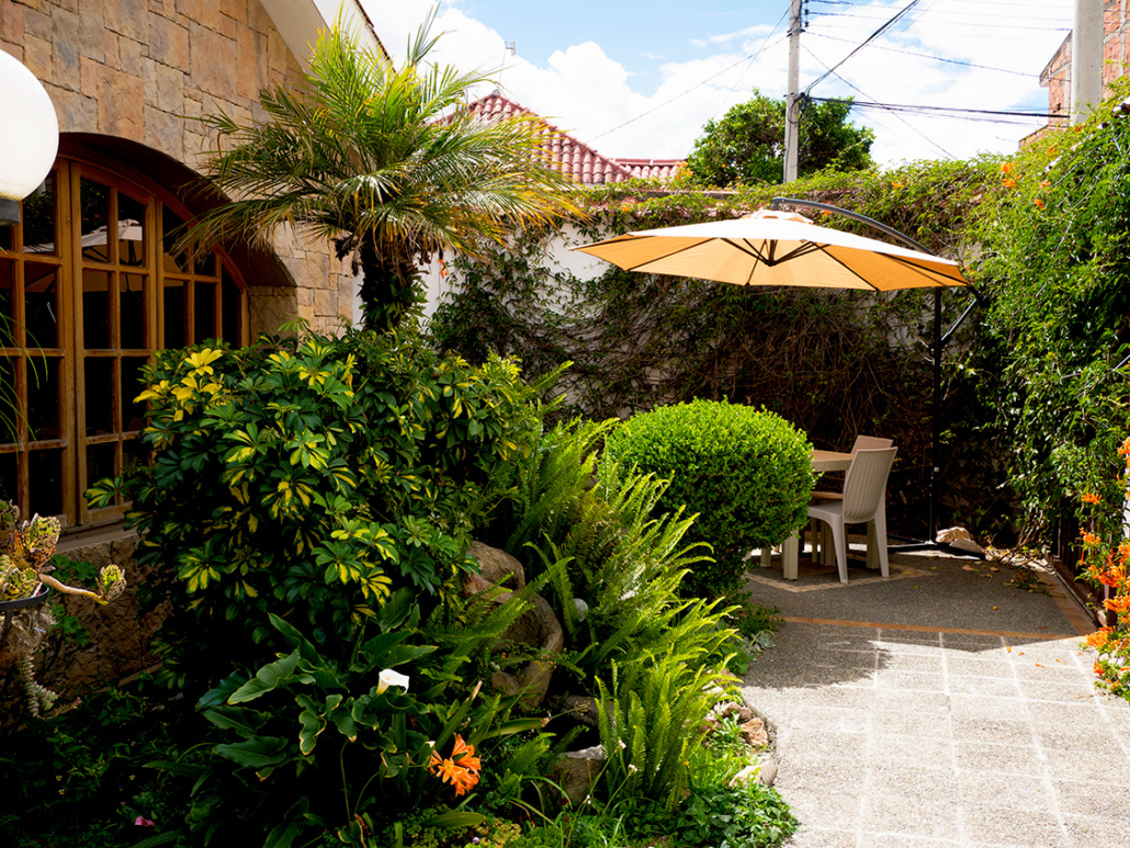 Cuenca Ecuador Rental House Courtyard