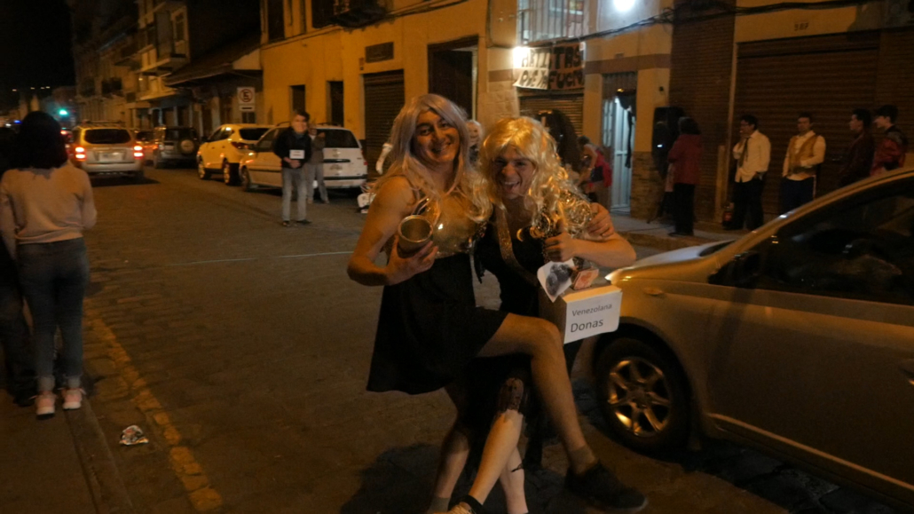 New Year's Eve in Cuenca Ecuador Men In Drag