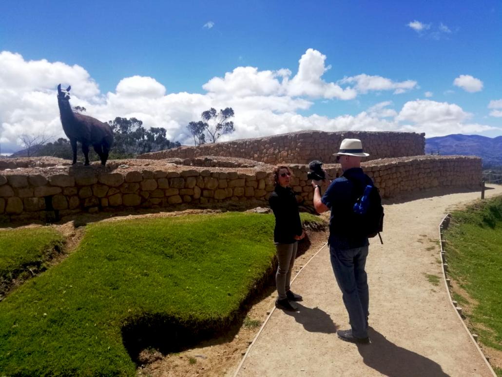 Ingapirca Inca Ruins Ecuador Llama
