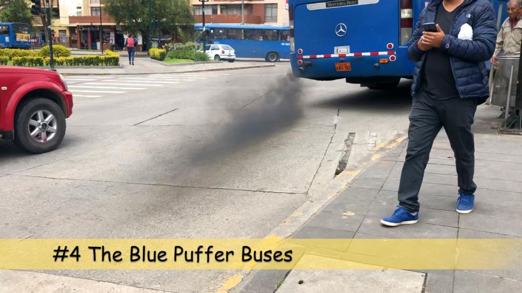 Blue Puffer Bus