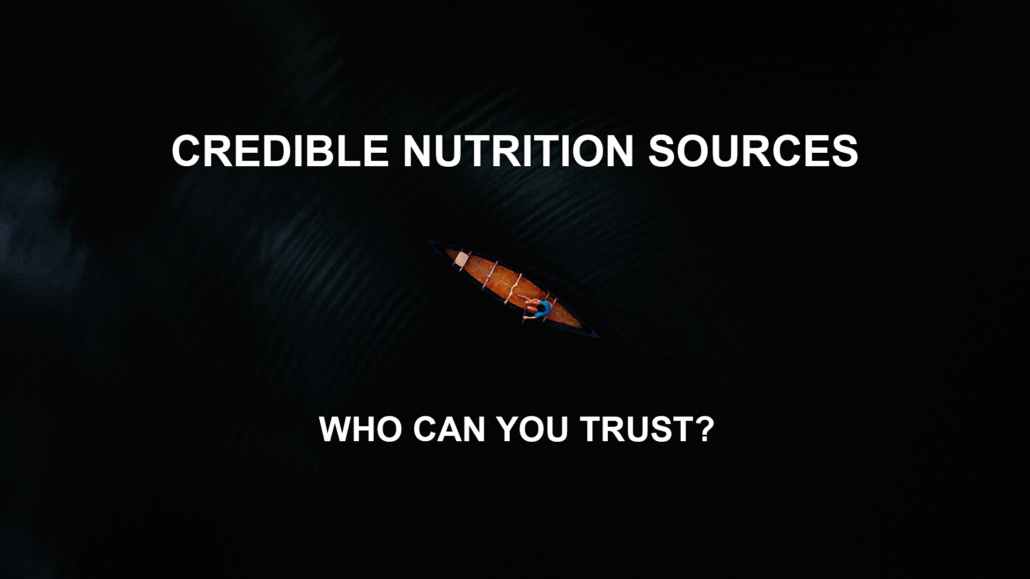 Credible Nutrition Sources Banner