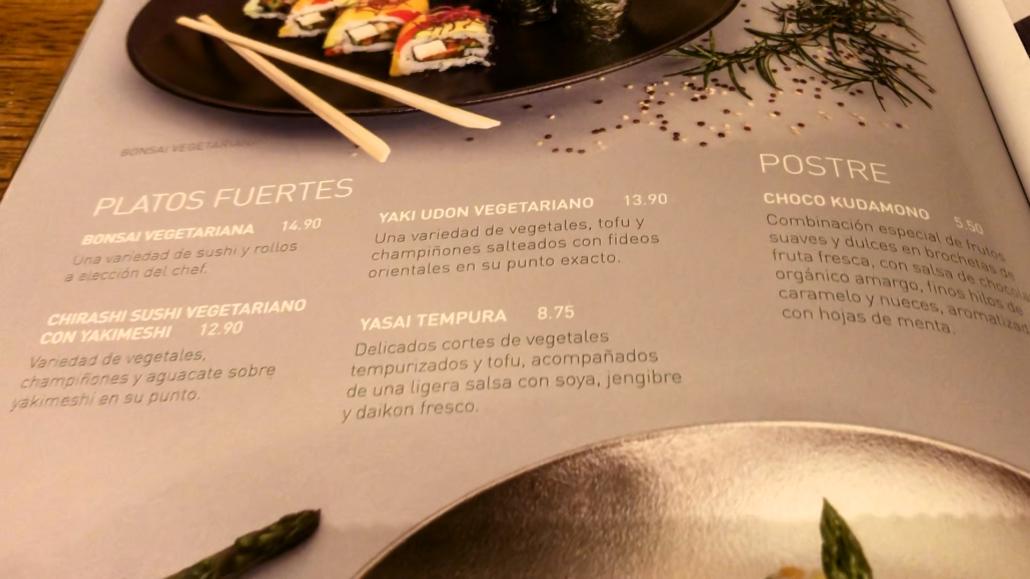 NOE Sushi Menu 2