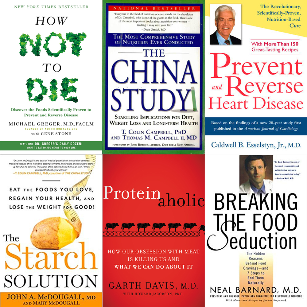 Recommended Plant-Based Books Covers