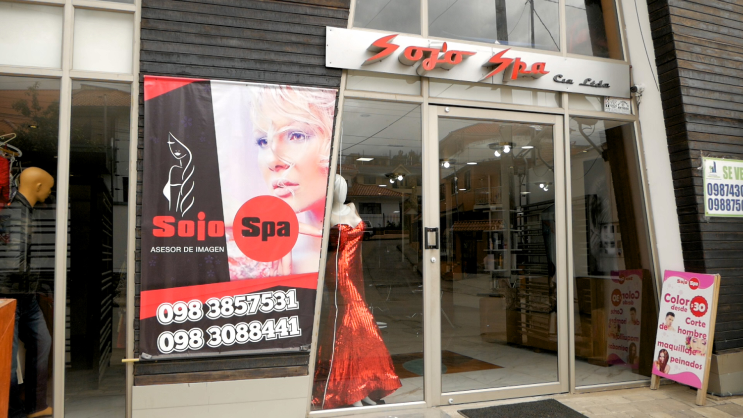 Sojo Spa Hair Salon Cuenca Ecuador Storefront