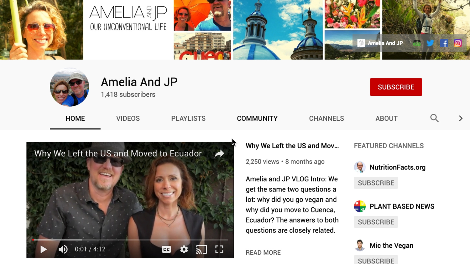 Amelia And JP YouTube Channel