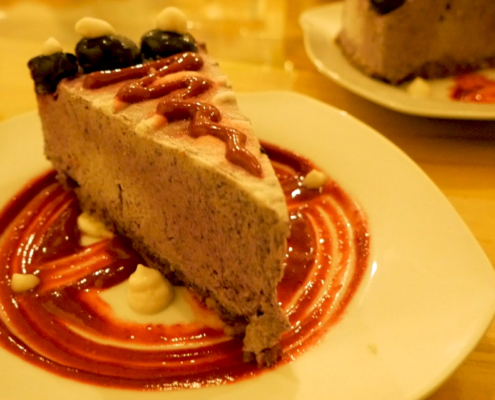 Mico's Oasis Verde Blueberry Cream Pie