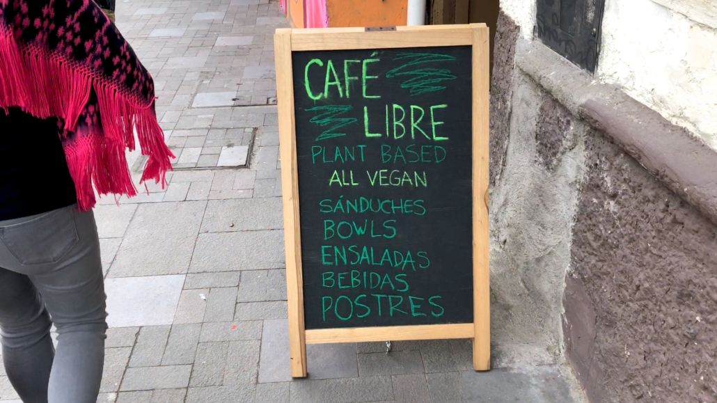 Café Libre Cuenca Sign