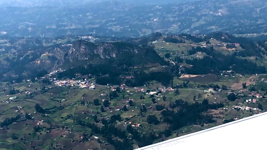 Cuenca Ecuador from an Airplane