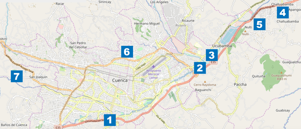 Cuenca Outer Neighborhood Map