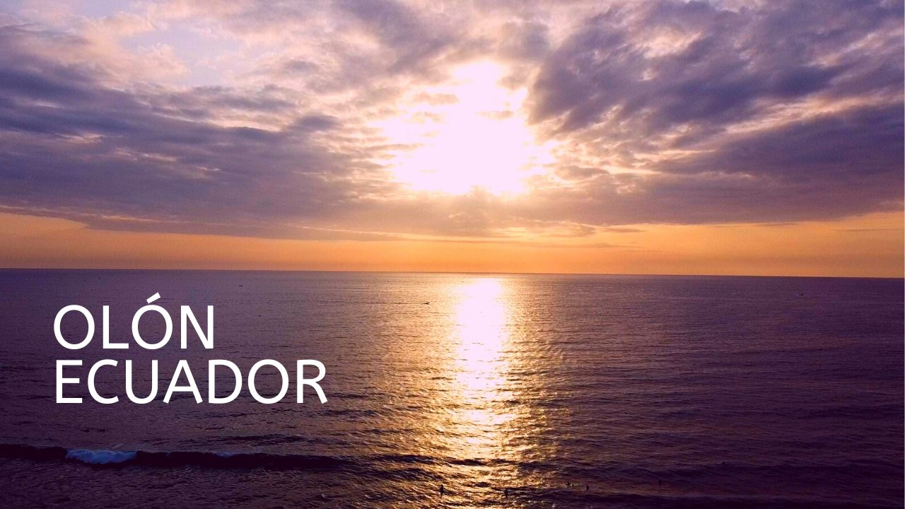 Sunset in Olon Ecuador DJI Mavic Mini Drone